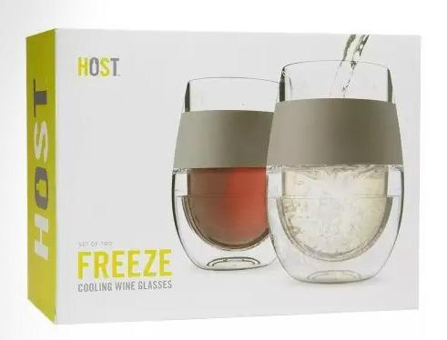 Freeze wine glass
