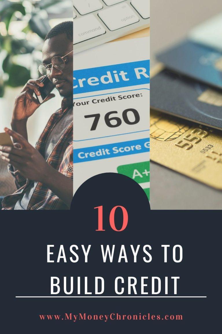10 Easy Ways to Build Credit