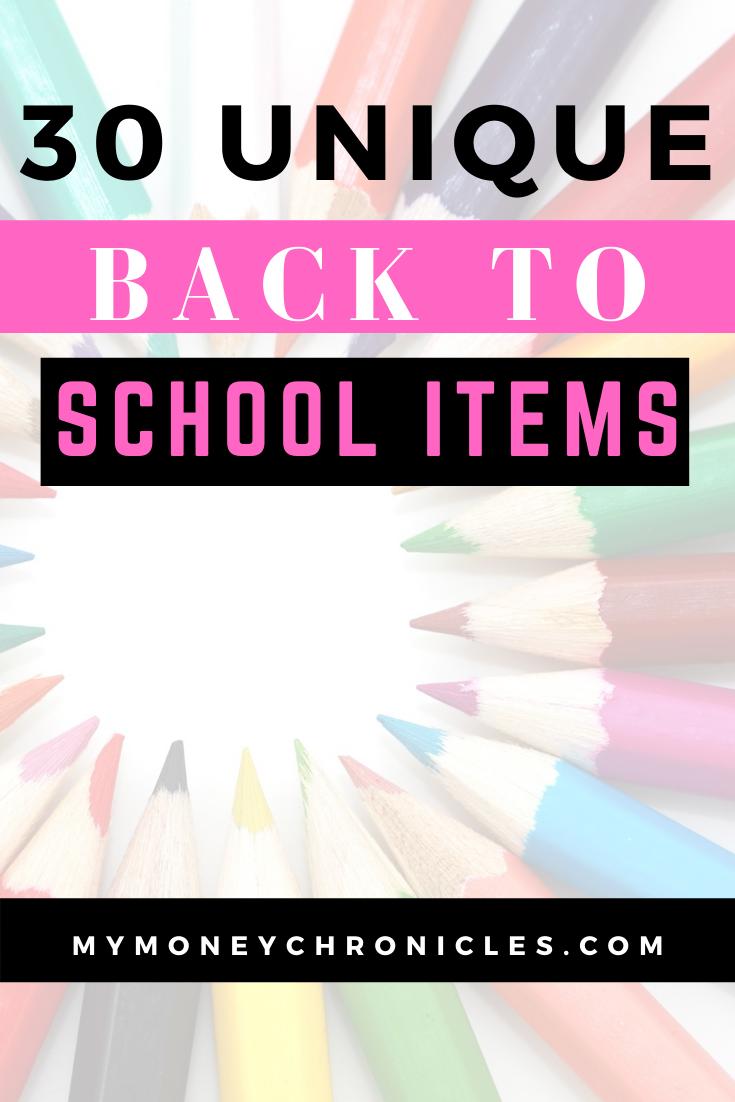 School Supplies List: 30 Items