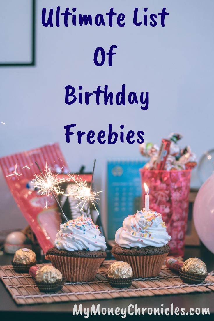 Ultimate List of Birthday Freebies