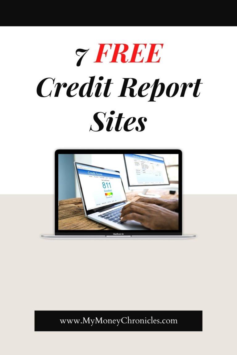 7 Free Credit Report Websites